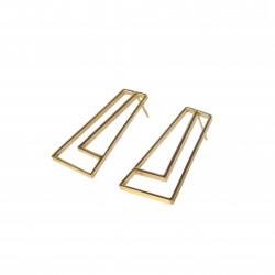 STRAIGHT Earrings golden,...