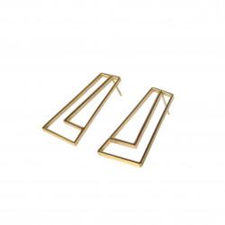 STRAIGHT Earrings Golden,...