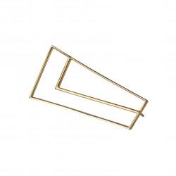 STRAIGHT Brooch Golden, Ana...