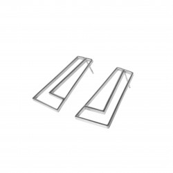 STRAIGHT Earrings silvery,...