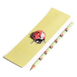 Pencil + Bookmark Ladybug,...